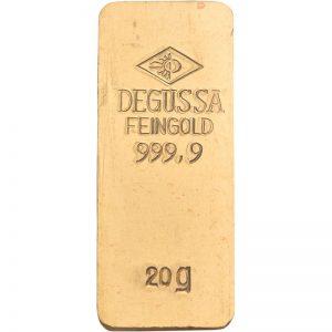 Goldbarren, 20 g, diverse Hersteller