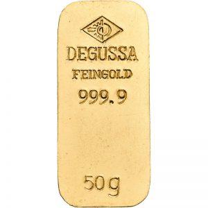 Goldbarren, 50 g, diverse Hersteller