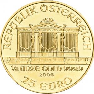 Österreich, 1/4 oz Philharmoniker, diverse Jahrgänge