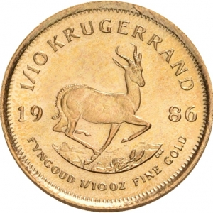 Südafrika, 1/10 oz Krügerrand, div. Jahrgänge
