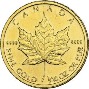 Kanada,  1/10 oz Maple Leaf, div. Jahrgänge