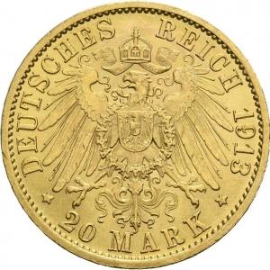 Preußen, 20 Mark 1890-1913, J. 252