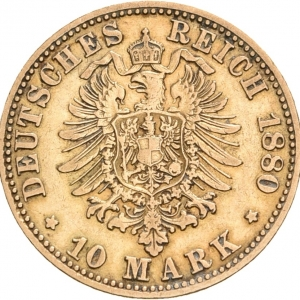 Preußen, 10 Mark 1874-1888, J. 245