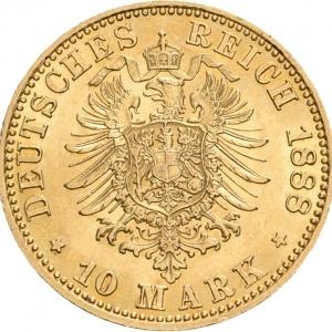 Preußen, 10 Mark 1888. J. 247