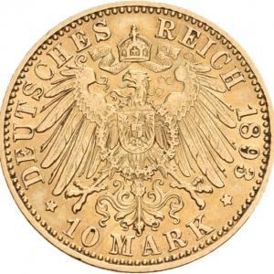 Preußen, 10 Mark 1890-1912, J. 251