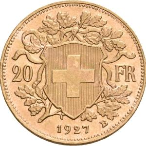 Schweiz, 20 Franken 1897-1949 (Vreneli)