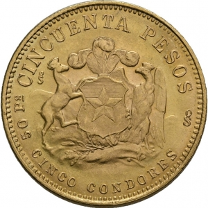 Chile, 50 Pesos 1926-1980