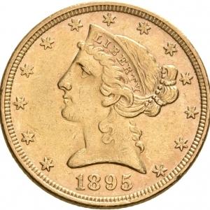 USA, 5 Dollars 1866-1907