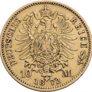 Preußen, 10 Mark 1872-1873, J. 242