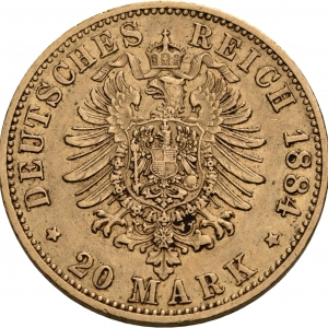 Preußen, 20 Mark 1874-1888, J. 246