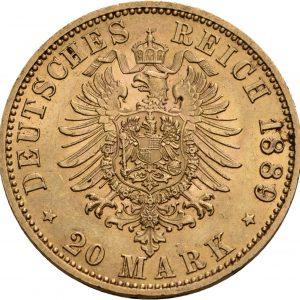 Preußen, 20 Mark 1888-1889, J. 250
