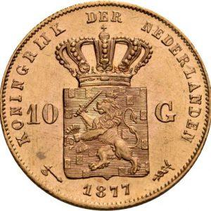 Niederlande, 10 Gulden 1875-1889