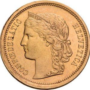 Schweiz, 20 Franken 1883-1896 (Helvetia)