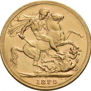 Großbritannien, 1 Sovereign 1887-1892