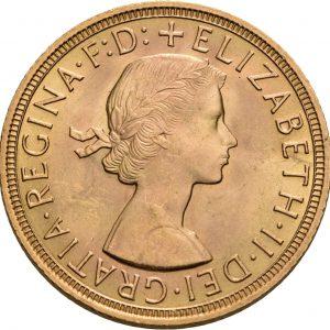 Großbritannien, 1 Sovereign 1953-1968
