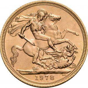 Großbritannien, 1 Sovereign 1974-1984