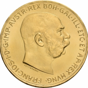 Österreich, 100 Kronen 1915 (Neuprägung)