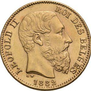 Belgien, Leopold II., 20 Francs 1867-1882