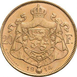 Belgien, Albert, 20 Francs 1914 (franz.)