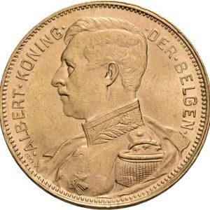 Belgien, Albert, 20 Francs 1914 (fläm.)