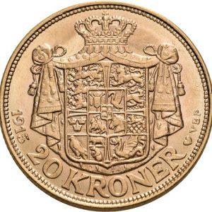 Dänemark, Christian X., 20 Kroner