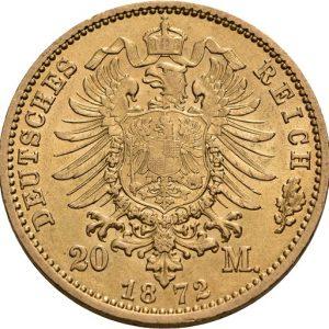 Preußen, Wilhelm I., 20 Mark 1872-1873, J. 243