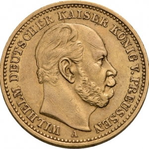 Preußen, Wilhelm I., 20 Mark 1874-1888, J. 246