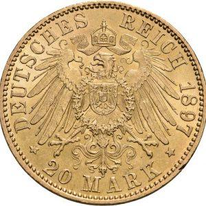 Preußen, Wilhelm II., 20 Mark 1890-1913, J. 252