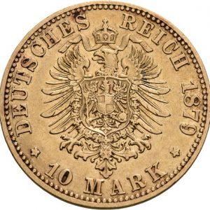 Preußen, Wilhelm I., 10 Mark 1874-1888, J. 245