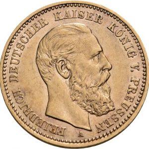 Preußen, Friedrich III., 10 Mark 1888. J. 247