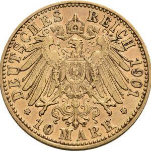 Preußen, Wilhelm II., 10 Mark 1890-1912, J. 251