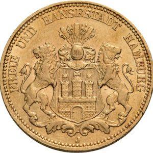Hamburg, 20 Mark 1875-1887, J. 210