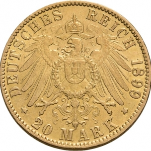 Hamburg, 20 Mark 1893-1913, J. 212